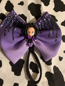 Selena Hair Bow ( LARGE bow on HEADBAND )