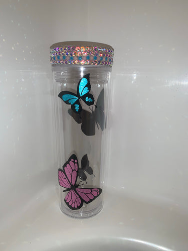 Butterfly bling cup