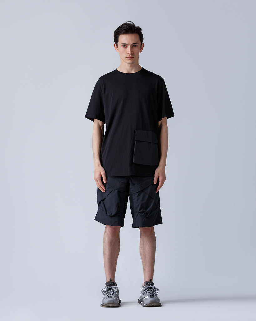 Riot Division T-Shirt Patched Pocket BLACK