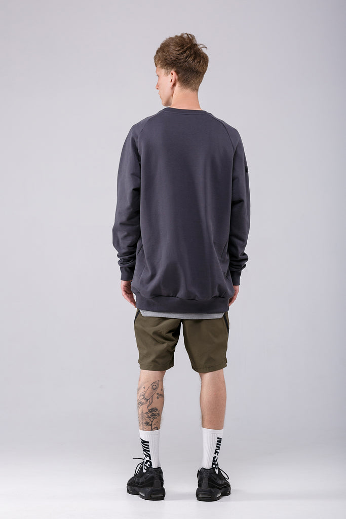 Riot Division Stealth Sweatshirt Patched Pocket RD-SSPP GREY