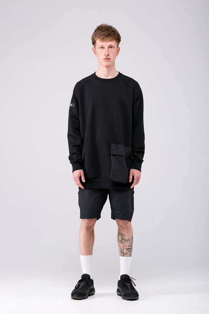 Riot Division Stealth Sweatshirt Patched Pocket RD-SSPP BLACK