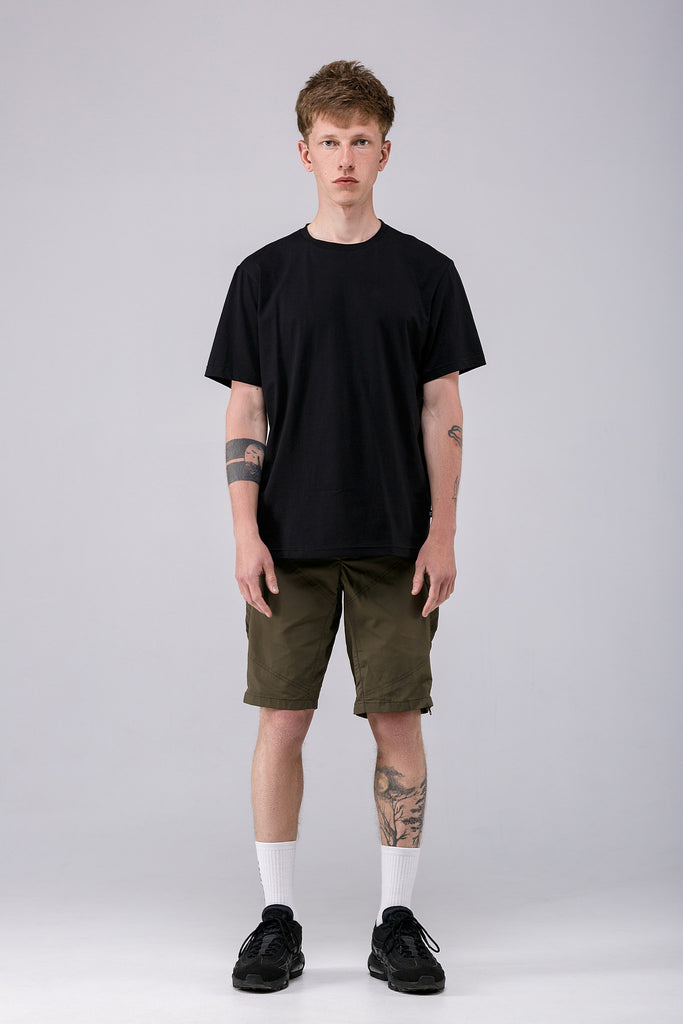 Riot Division Wide T-shirt Blank BLACK