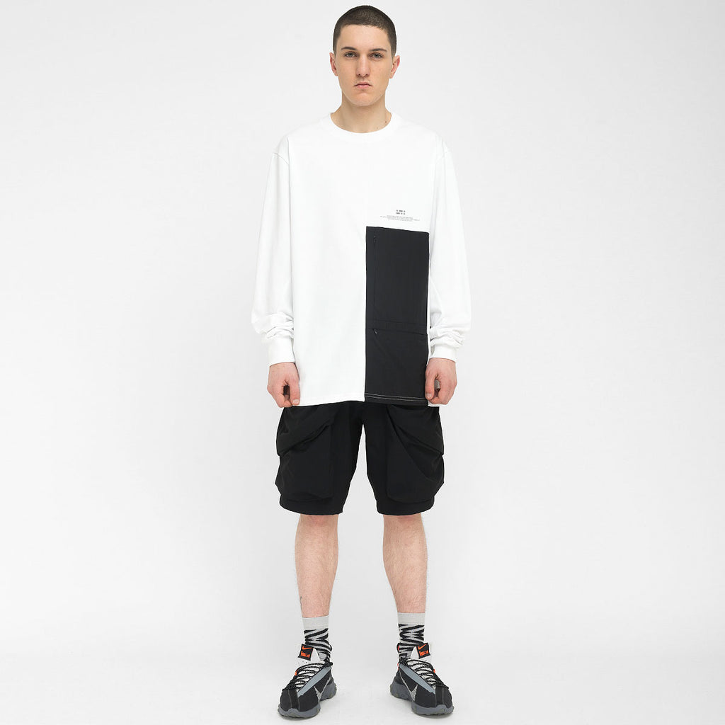 Patched Pockets Longsleeve RD-PPLS WHITE