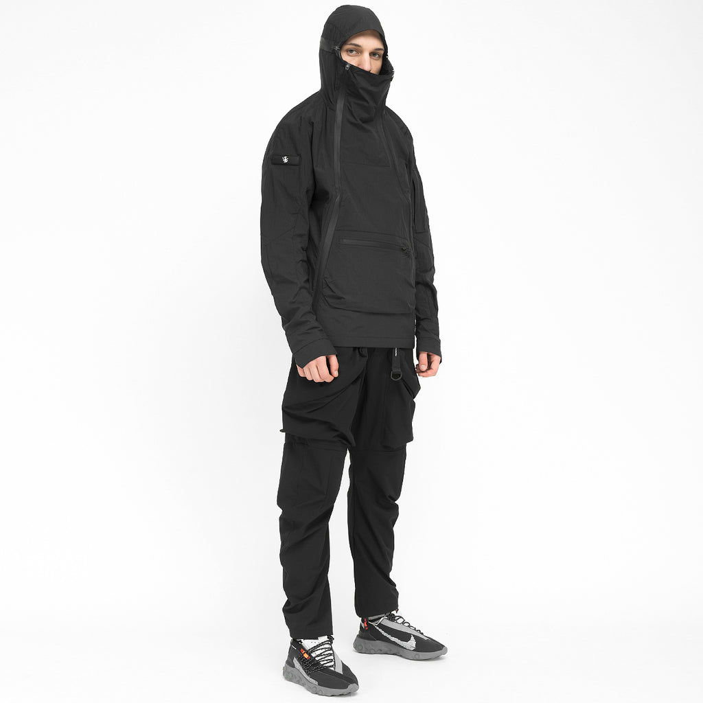 Double Zip Combat Anorak 020 RD-DZCA020 BLACK