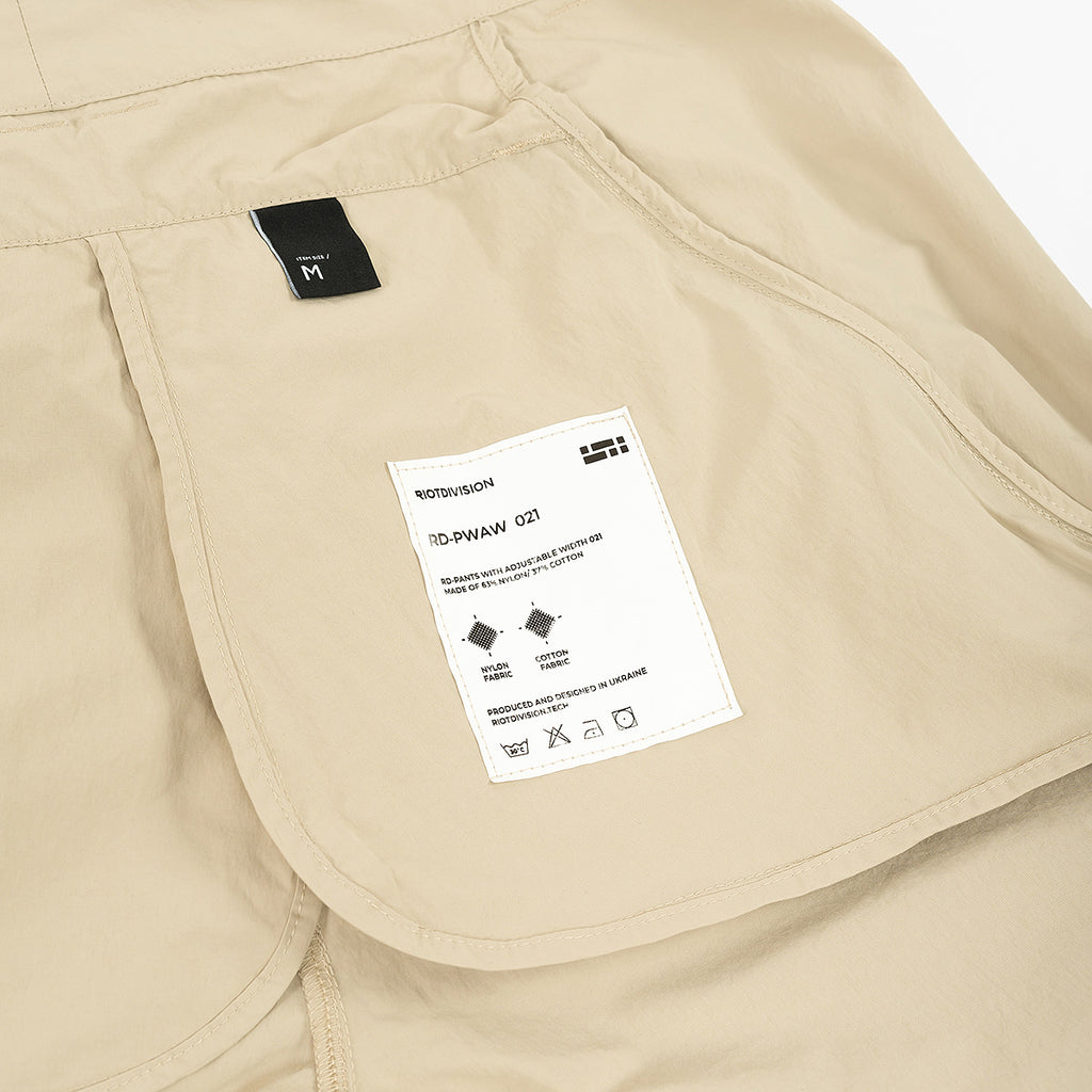 Pants With Adjustable Width 021 RD-PWAW021 SAND