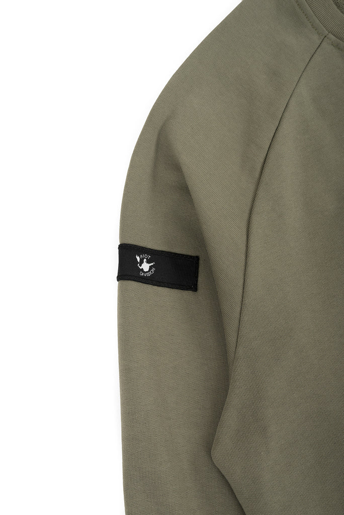 Riot Division Stealth Sweatshirt Patched Pocket RD-SSPP KHAKI