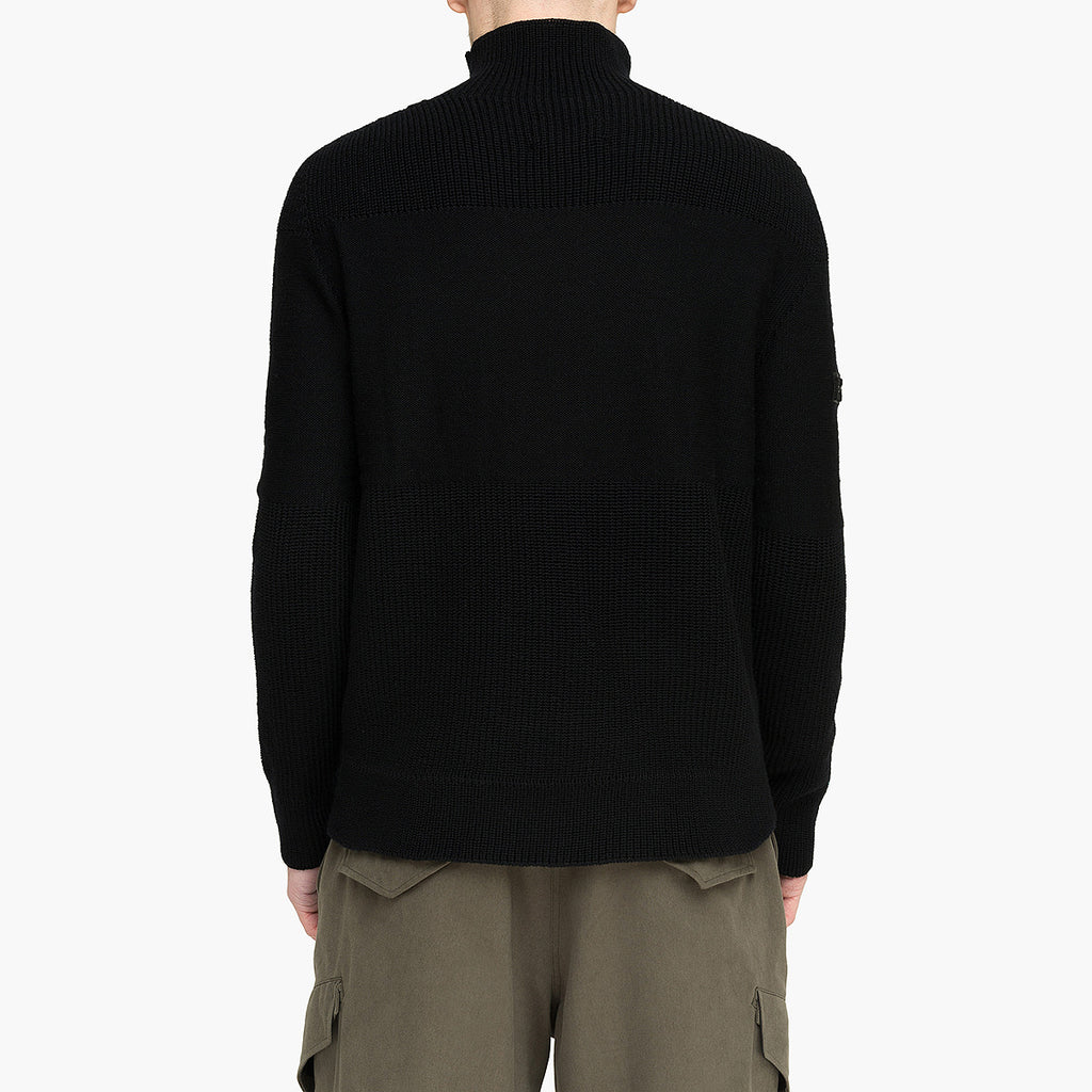 Seamless 2 Pockets Sweater RD-S2PS BLACK