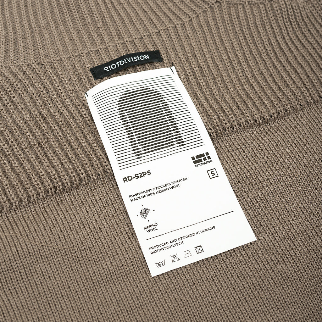 Seamless 2 Pockets Sweater RD-S2PS BROWN