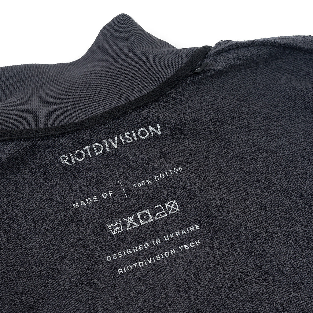 Riot Division Women Cotton Short Sweatshirt RD-WCSS GREY