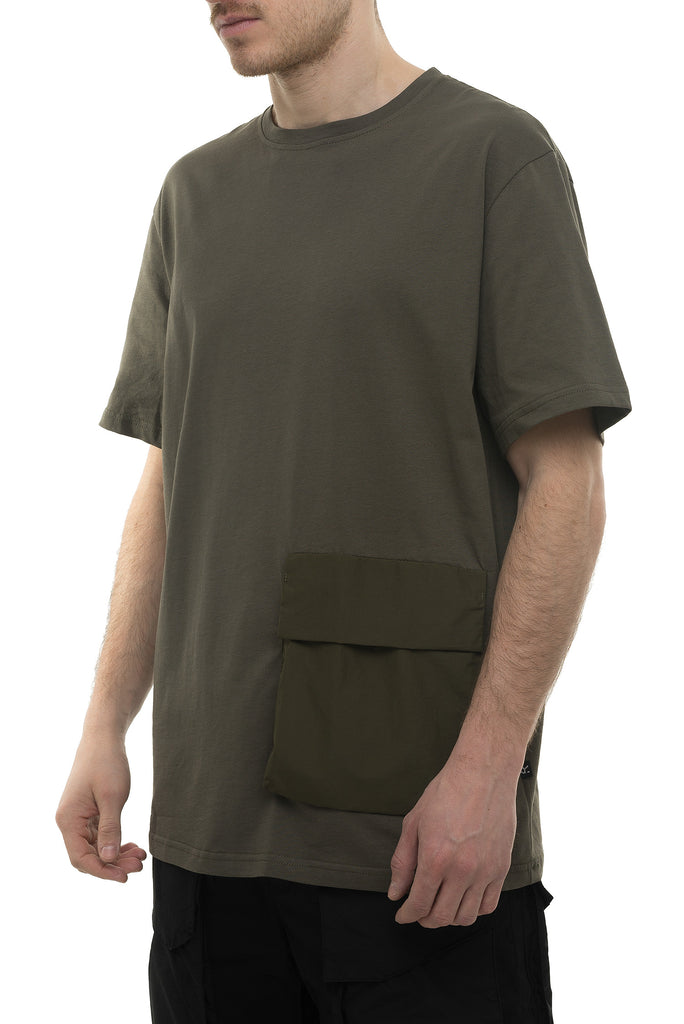 Riot Division T-Shirt Patched Pocket KHAKI
