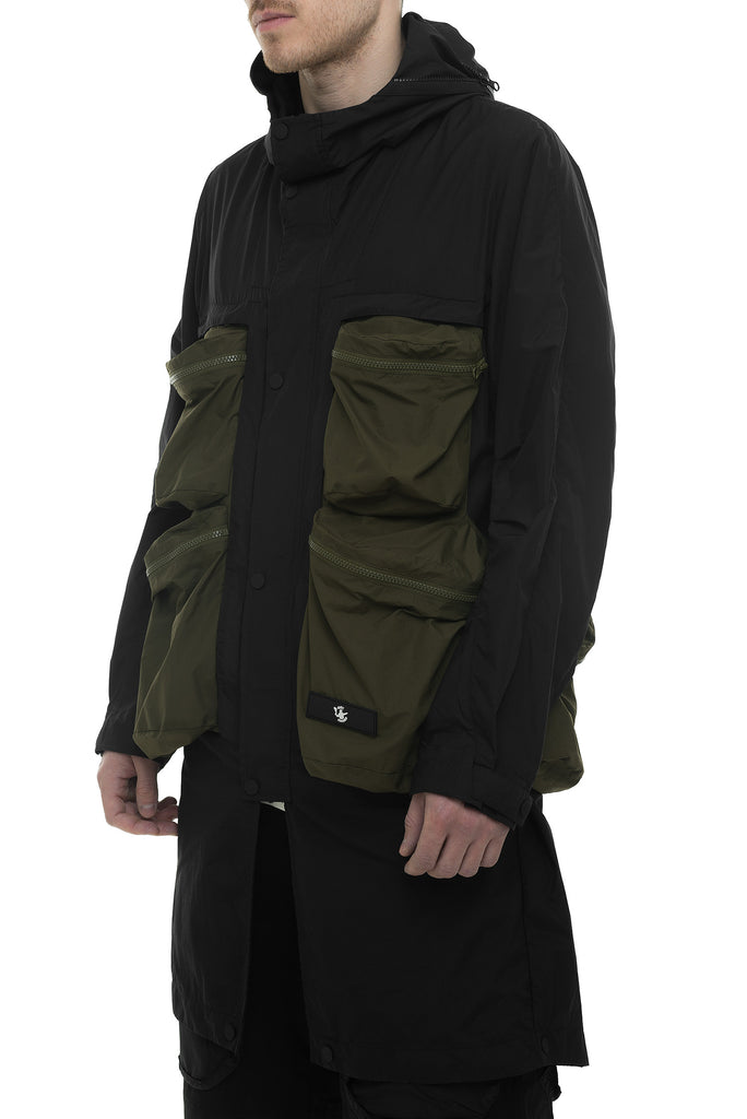 Riot Division Wrapping Parka With Symbiosis System RD-WPWSS BLACK-KHAKI