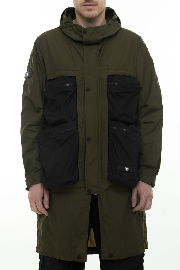 Riot Division Wrapping Parka With Symbiosis System RD-WPWSS KHAKI-BLACK