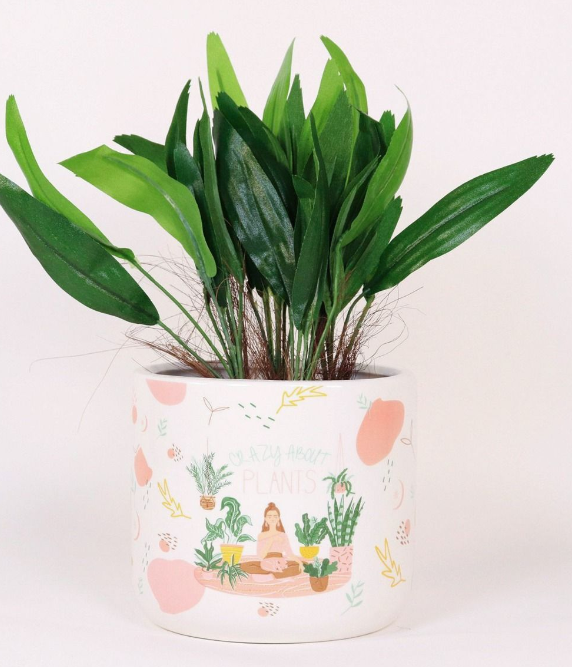 Crazy About Plants Planter - 18cm