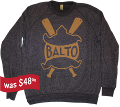 Baltimore Terrapins Baseball Sweatshirt 1914 - black