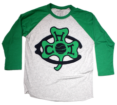Chicago Shamrocks Basketball raglan tshirt