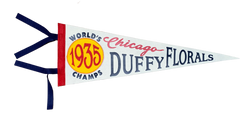 Chicago Duffy Florals Championship Pennant