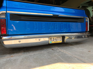 67-72 C-10 Tucked license plate box