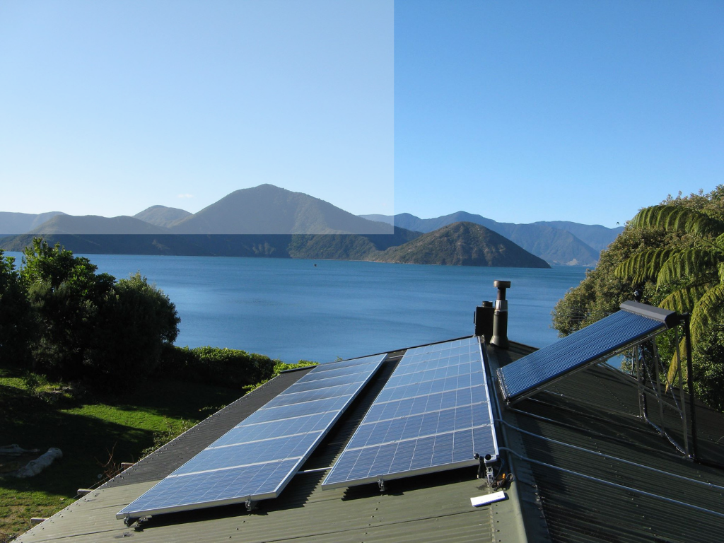 Solar Array for Commercial Solar Installation with Scenic View