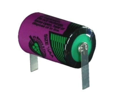 Tadiran 3.6V High Density 1/2AA Lithium Battery with Tabs [TLL-5902/T]