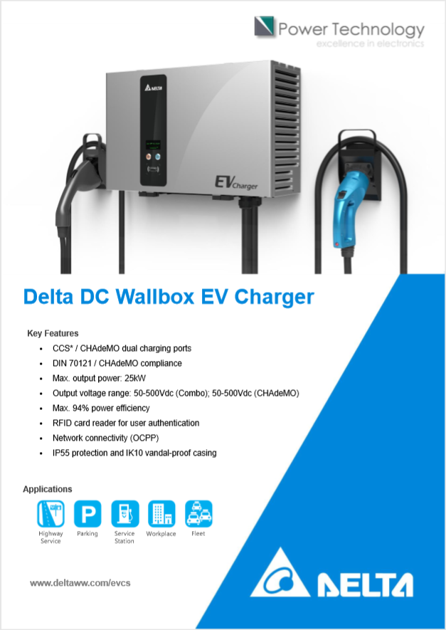 Datasheet Delta EV Charger Front Page