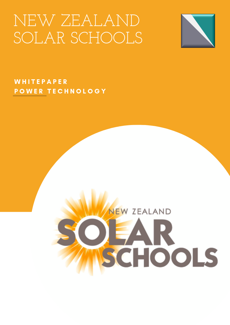 New Zealand Solar Schools Whitepaper Front Page