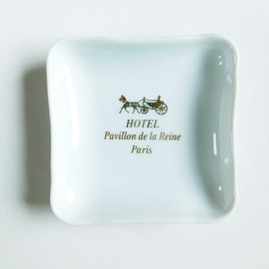 Hotel Pavillon de la Reine Porcelain Ashtray/Dish
