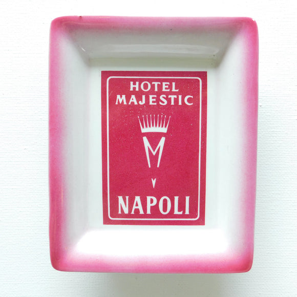Hotel Majestic Naples Italy Ceramic Dish/Ashtray
