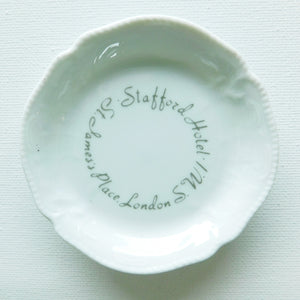 Stafford Hotel London Porcelain Ashtray/Dish