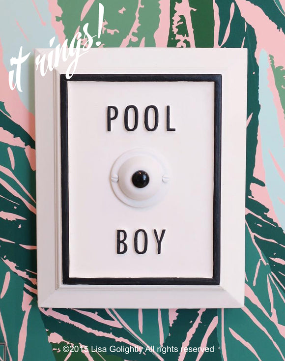 Pool Boy Button - Ringing Version
