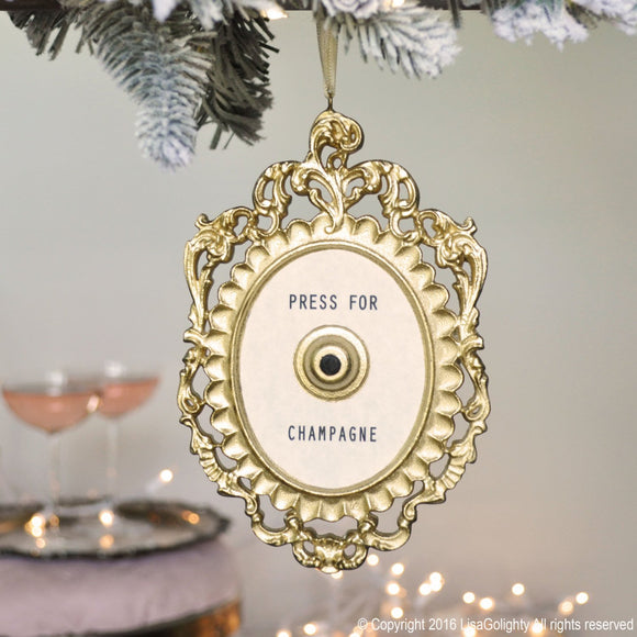Press For Champagne Mini Ornament