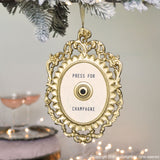 Press For Champagne Christmas Ornament