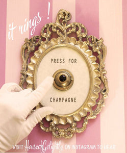 Press For Champagne Button - ringing version