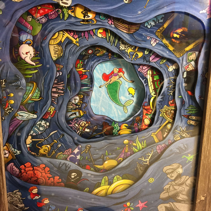 Ariel's Treasure- Deluxe Shadow Box- Framed