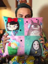 Load image into Gallery viewer, Ghibli Squares- Pillow