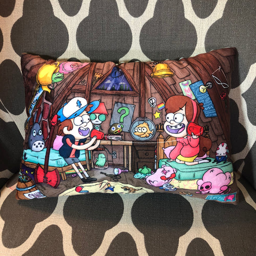 Telephone Game- Gravity Falls- MashUp Pillow
