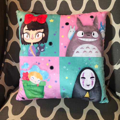 Ghibli Squares- Pillow