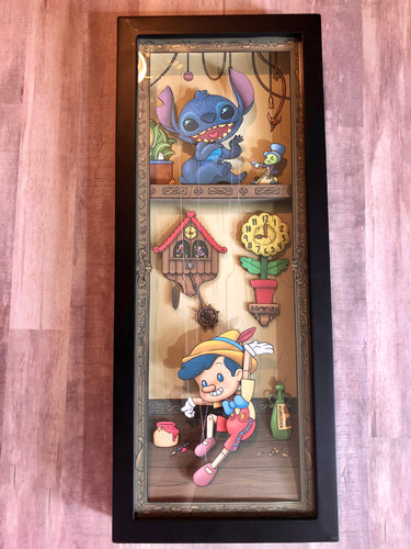 Stitch & Strings- Shadow Box- 7