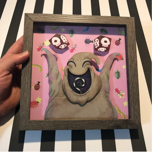 "Happy Boogie - Shadow Box- 8""x 8""- Framed"