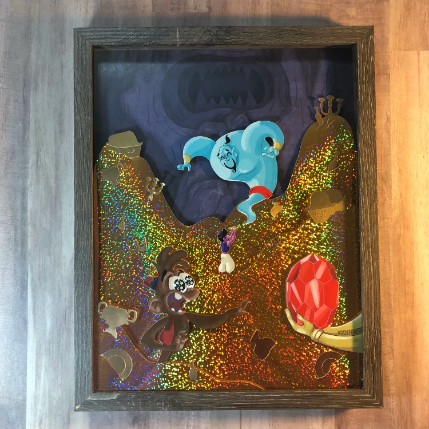 Friend Like Me- Hand Made Shadow Box- 11