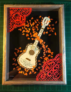 "Recuerdame- COCO- Hand Made Shadow Box- 11""X14"""