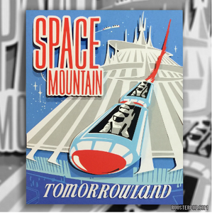 Space Mountain Shadow Box- Framed