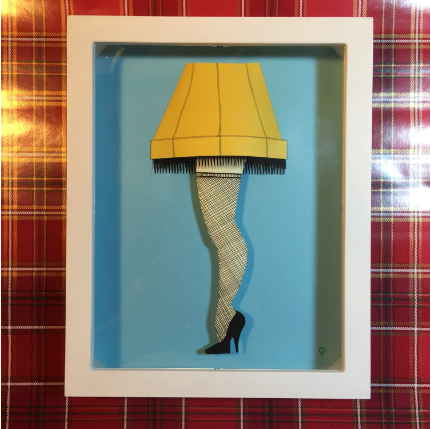 Paper Leg Lamp- Shadow Box- 8