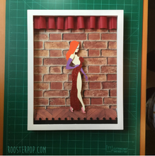 "Load image into Gallery viewer, Jessica Rabbit- Who Framed Roger Rabbit-Shadow Box -  11""x 14""- Framed"