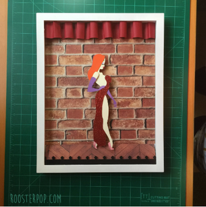 "Jessica Rabbit- Who Framed Roger Rabbit-Shadow Box -  11""x 14""- Framed"