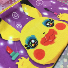 "Load image into Gallery viewer, Pika Loves MakeUp- 9""x 6"" Accessory Bag"