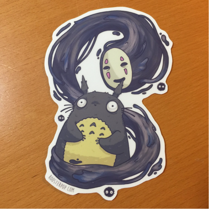 No Face and Totoro- Big Sticker