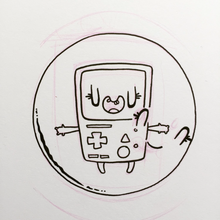 Load image into Gallery viewer, BMO & Bubble- Love is Love- Big Sticker