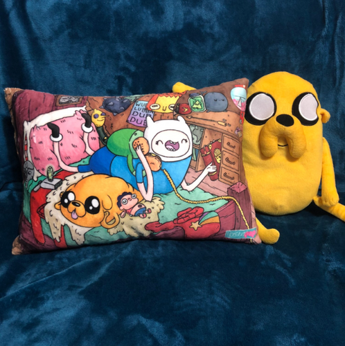 Telephone Game- Finn & Jake- MashUp Pillow