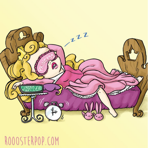 Little Sleeping Beauty Cutie- Art Print