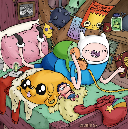 Telephone Game- Finn and Jake- MashUp Art Print